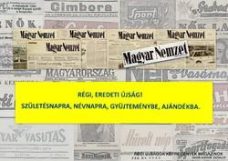 1999 szeptember 4  /  Magyar Nemzet  /  SZÜLETÉSNAPRA RÉGI EREDETI ÚJSÁG Szs.:  7139