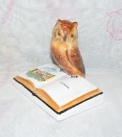 Kerámia bagoly könyvön Zalakaros