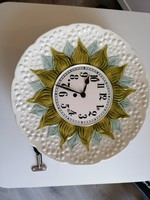 Keramik Uhr um 1880. 32 cm G ZELL BADEN