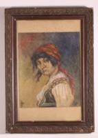 Cigánylány festmény