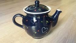 Retró szívecskés tea kanna, sosem használt, ezért újnak tűnik
