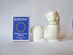 Mini, miniatűr bárány, bari formájú parfümös üveg, parfümtartó üveg