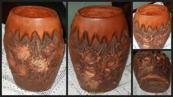 Kézműves kerámia váza. 36 cm.