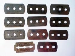 11 darab régi borotva penge 120 -as évek