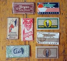 8 darab régi borotva penge 120 -as évek