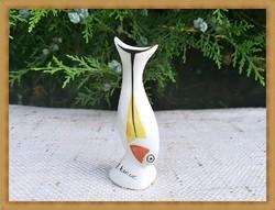 Ritka régi porcelán balatoni szuvenír, Balatonkenese , hal figura ( Hollóházi ? )