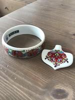 ZEMA Hollóházi porcelán karkötő medállal