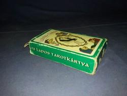 Régi Ludwig Tarott vető jós művészkártya hiánytalan instrukcióval  a képek szerint