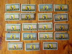 19 darab régi borotva penge 120 -as évek Mond Extra
