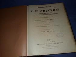 Antik francia Mérnöki építészeti tankönyv album nagyon szép állapotban
