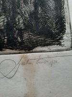Rézkarc 1932-es datálással, keret nélkül
