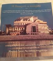 Az újjáépített Nemzeti Színház megnyitása 2002.március 15-én- reklám,hirdetés, szórólap,fotó,plakát
