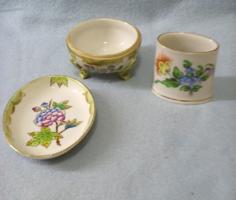 3 darabos Herendi porcelán