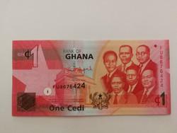 Ghána 1 Cedi UNC 2014