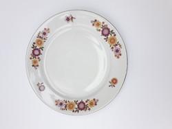 Alföldi retro porcelán színes virágos kistányér - süteményes, desszertes tányér - csészealj