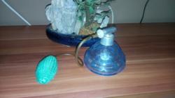 Gyönyörű Régi  Égszínkék Parfümszóró Ajándékkal