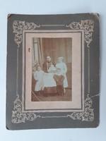 Antik fotó vintage fénykép anya gyermekeivel