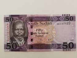 Dél-Szudán 50 Pounds UNC bankjegy 2017