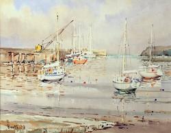 Berthold Dunne : Ships in Harbour