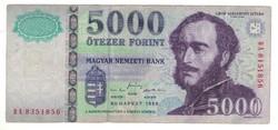 5000 forint 1999 eltérő sorszám