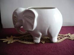 Elefánt formájú kaspó – kerámia