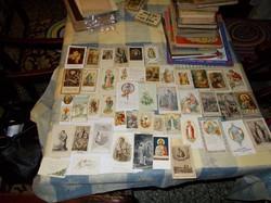 Vallási témájú kicsi emlék kártyák