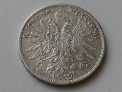 2 corona 1912 SCHWARTZ osztrák EF 01