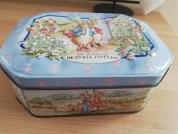 Beatrix Potter régi fém doboz