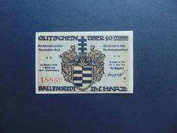 10 pfennig 1921 Sorszámos bankjegy