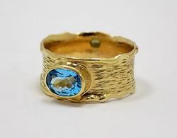 Kék köves arany gyűrű (ZAL-Au81785)