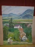 Varga Ferenc hagyatéka, akva, pasztell, grafika vegyesen, méret jelezve