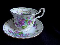 Royal Albert ibolyás teás szett