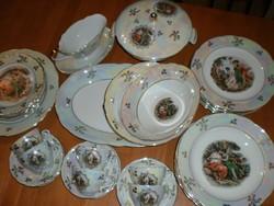 Kahla, türingiai étkészlet 36 darabos, 6 személyes
