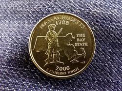 USA Massachusetts aranyozott 1/4 Dollár 2000 P/id 10064/