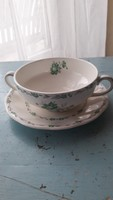 Antik leveses csésze tányérral