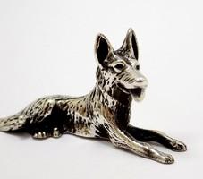 Ezüst kutya miniatűr figura (ZAL-Bi37494)