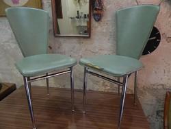 2 db olasz krómvázas retro / design szék