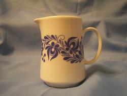 Hollóházi Kék Virág Díszes porcelán Tej,tejszín,olaj kiöntő