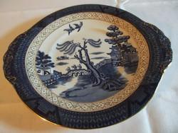 Jelzett angol jelenetes porcelán süteményes tál!