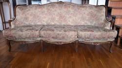 Gyönyörű, hibátlan, elegáns  neobarokk kanapé