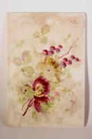 Kerámiakép festett virágokkal