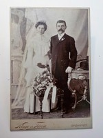 Antik fotó ,  Házasság  , Kluge és társa