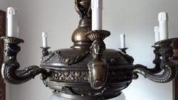 Figurális bronz 8 karos csillár