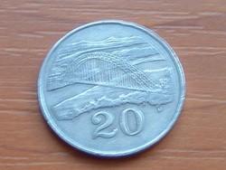 ZIMBABWE 20 CENT 1983  FOLYÓ ÉS HÍD #