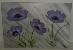 Virágok,  50 x 70 cm