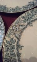 3 db angol porcelánfajansz lapostányér