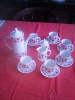 Alföldi napocskás porcelán kávéskészlet