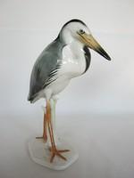 Volkstedt porcelán madár kócsag