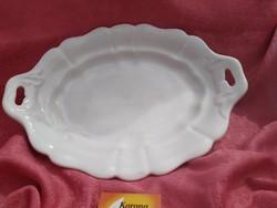 Antik vastag porcelán ovális kínáló