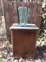 Art deco öntött üveg váza nagyméretű